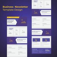 conception de modèle de newsletter créative pour les entreprises vecteur