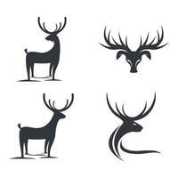ensemble d'illustrations d'images de logo de cerf
