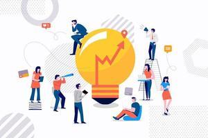 équipe à la recherche d'une bonne idée d'entreprise vecteur