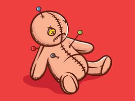 Illustration de poupée vaudou vecteur