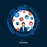 compétences de centre d'appels recherchées vecteur