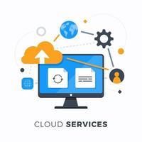 services de cloud computing vecteur