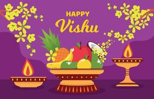 tradition de fond de fête vishu