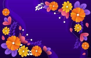 fond de temps de printemps avec couleur violette vecteur