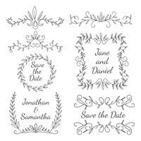 Ornement floral élément de mariage vecteur