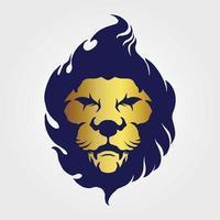 illustrations de conception de tête de lion d'or vecteur