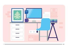 Illustration de bureau de bureau de vecteur