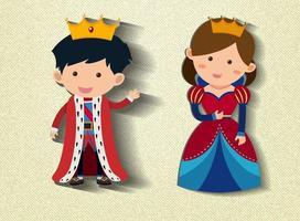 petit personnage de dessin animé roi et reine vecteur