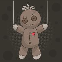 Vecteur de poupée vaudou fantasmagorique