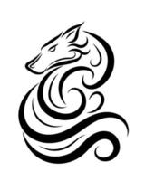 vecteur d'art en ligne de loup eps 10