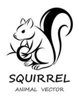 vecteur noir d'écureuil eps 10