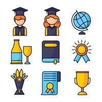 collection d & # 39; icônes de graduation