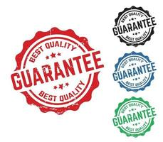 timbre de garantie avec effet grunge vecteur