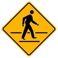 panneau de signalisation d'avertissement de passage pour piétons