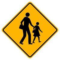 panneau de signalisation de circulation scolaire avertissement vecteur