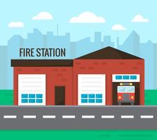 Caserne de pompiers vecteur