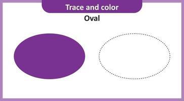 trace et couleur ovale vecteur