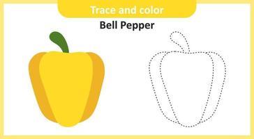trace et couleur de poivron vecteur