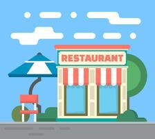 Restaurant plat vecteur