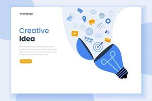 modèle de site Web de page de destination idée créative vecteur