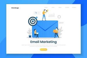 concept de design plat moderne de marketing par courriel vecteur