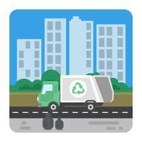 Camion à ordures vecteur