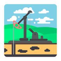 Industrie pétrolière vecteur