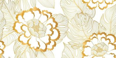 motif floral sans soudure. fond de fleur. texture transparente florale avec des fleurs et des feuilles dans un style asiatique oriental. papier peint carrelé s'épanouir vecteur
