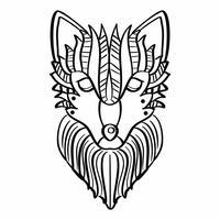 Wolf Coloriage vecteur