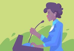 Femmes de discours de couleur vecteur