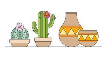 Vecteur de décoration de cactus