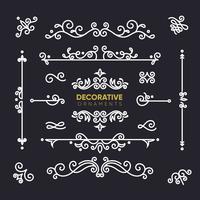 Collection d'ornements décoratifs rétro vecteur