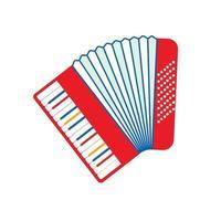 accordéon isolé sur fond blanc. icône plate accordéon en style cartoon. gros plan d'accordéon vecteur