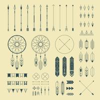 Ornements décoratifs indiens Hipster vecteur