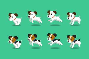 vecteur, dessin animé, caractère, jack russell terrier, chiens, courant vecteur