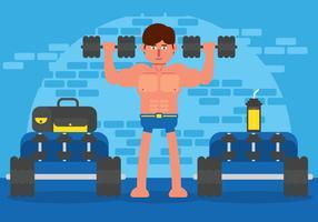 Vecteur de bodybuilder