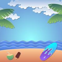 Vecteur de papercraft Summer Beach