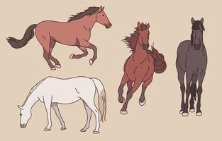 illustration de personnage de cheval vecteur
