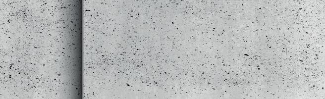 Texture panoramique de béton gris réaliste - illustration vecteur