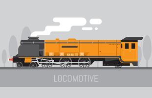 Clipart de locomotive vecteur