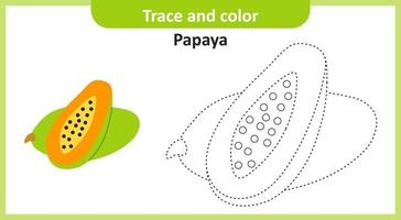 trace et couleur papaye vecteur