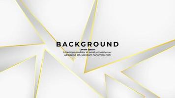 triangle de contour doré abstrait sur fond blanc avec effet de paillettes et couleur or brillant vecteur