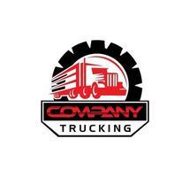signe de vecteur de logo de camion