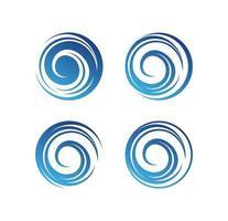 signe de logo vague cercle vecteur