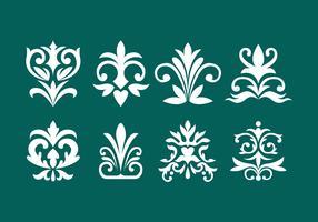 Collection d'éléments d'ornement décoratif vecteur