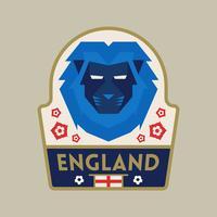 Insignes de football de coupe du monde de l'Angleterre vecteur