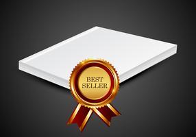 Meilleur livre de vendeur vecteur