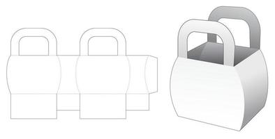 sacoche latérale courbée avec poignée gabarit découpé vecteur