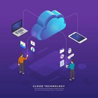 vecteur de technologie de cloud computing