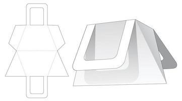 sac de forme triangulaire trapézoïdale avec poignée gabarit découpé vecteur